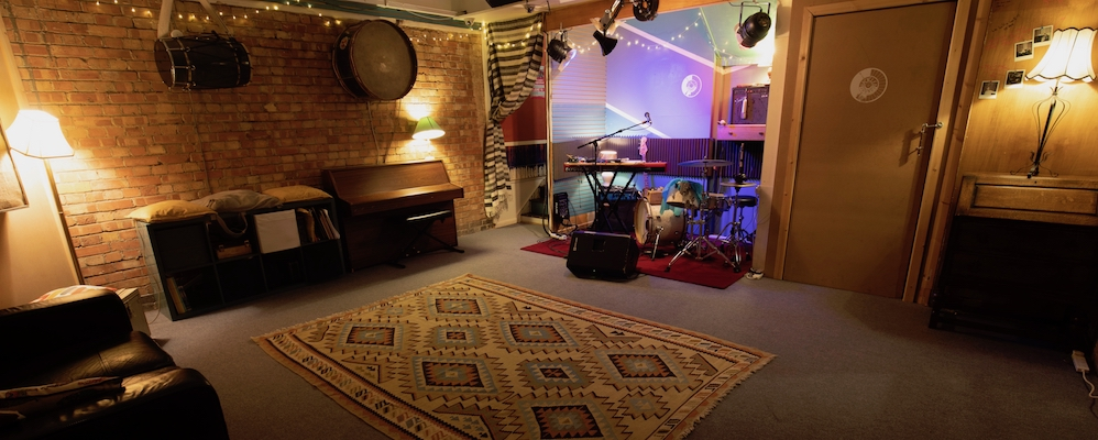 Upcycled Sounds Live Room – photo credit Fyrefly Studios